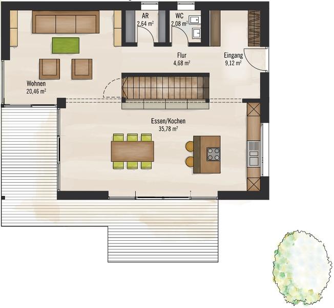 Fertighaus von baufritz haus bauhaus for Bauhaus einfamilienhaus grundriss