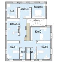 Baufritz Haus Kieffer - Grundriss Dachgeschoss