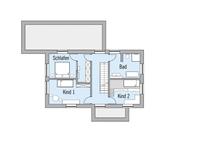 Baufritz - Haus Natur Design - Grundriss DG