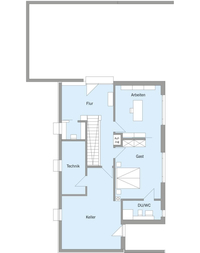 Baufritz - Haus Pawliczec - Grundriss KG