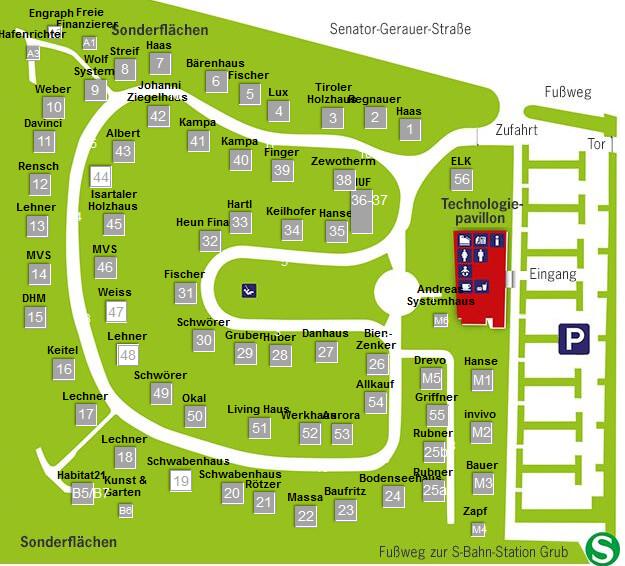 Musterhauspark Ausstellung  Poing bei Muenchen - Eigenheim und Garten