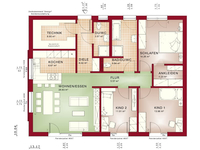Bien-Zenker - Haus AMBIENCE 110 V2 - Grundriss Erdgeschoss