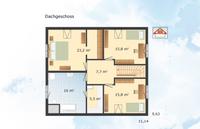 Danhaus - Haus Engelsby - Grundriss Dachgeschoss