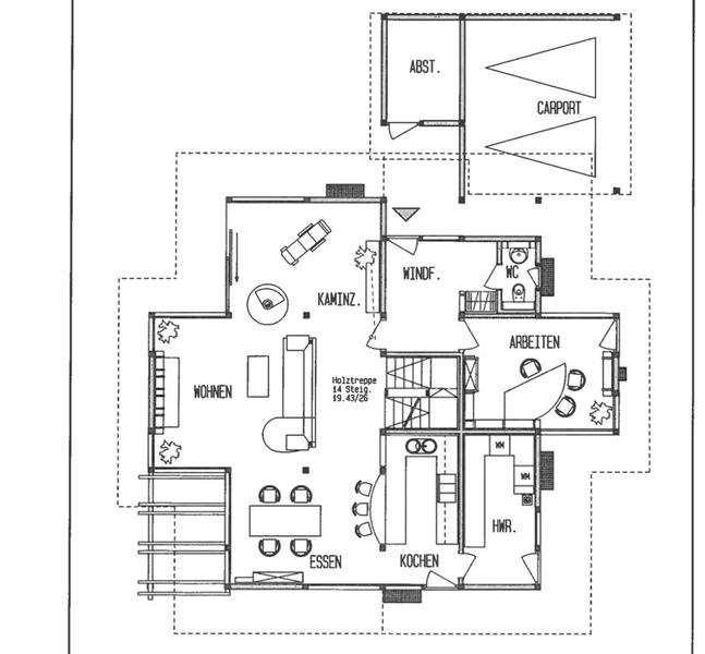 DAVINCI HAUS Kundenhaus Gerlacher   Grundriss Erdgeschoss