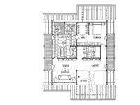 DAVINCI HAUS Kundenhaus Rosenberg - Grundriss Dachgeschoss
