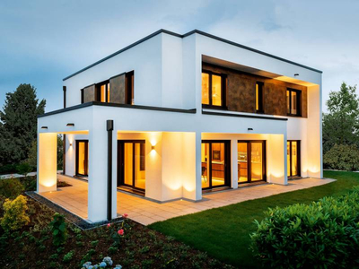 Energieeffizientes Musterhaus Victoria, aus Holz gebaut