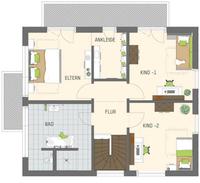 FingerHaus - Haus MEDLEY 3.0 - Musterhaus Kassel - Grundriss Obergeschoss