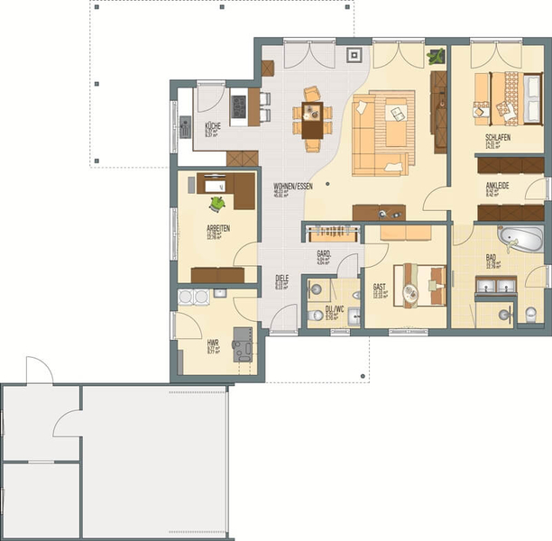 Fingerhaus grundrisse  Bungalow von FingerHaus - Haus NIVO 130