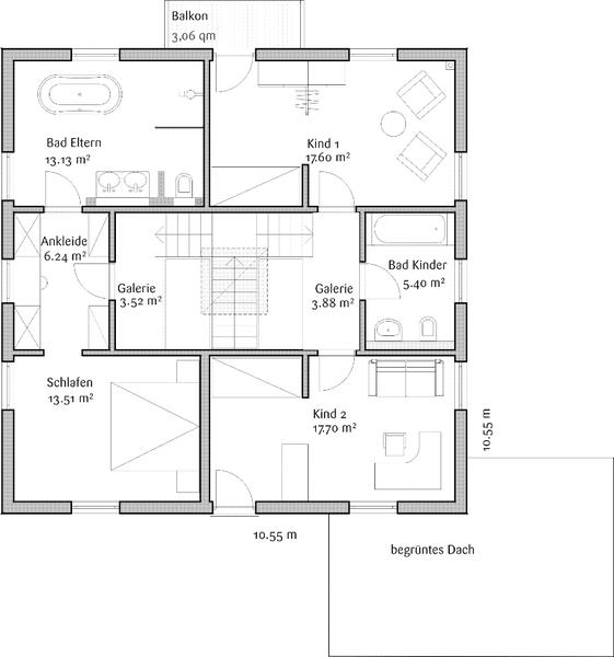 fertighaus von fischerhaus toskanahaus magnolie. Black Bedroom Furniture Sets. Home Design Ideas