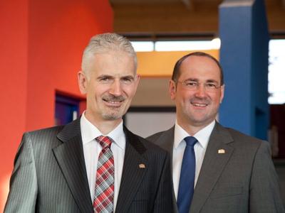 Geschaeftsführer Martin Rensch und Dirk Wolschke