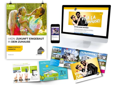 Living Haus - Neue Kommunikation Werbemittel