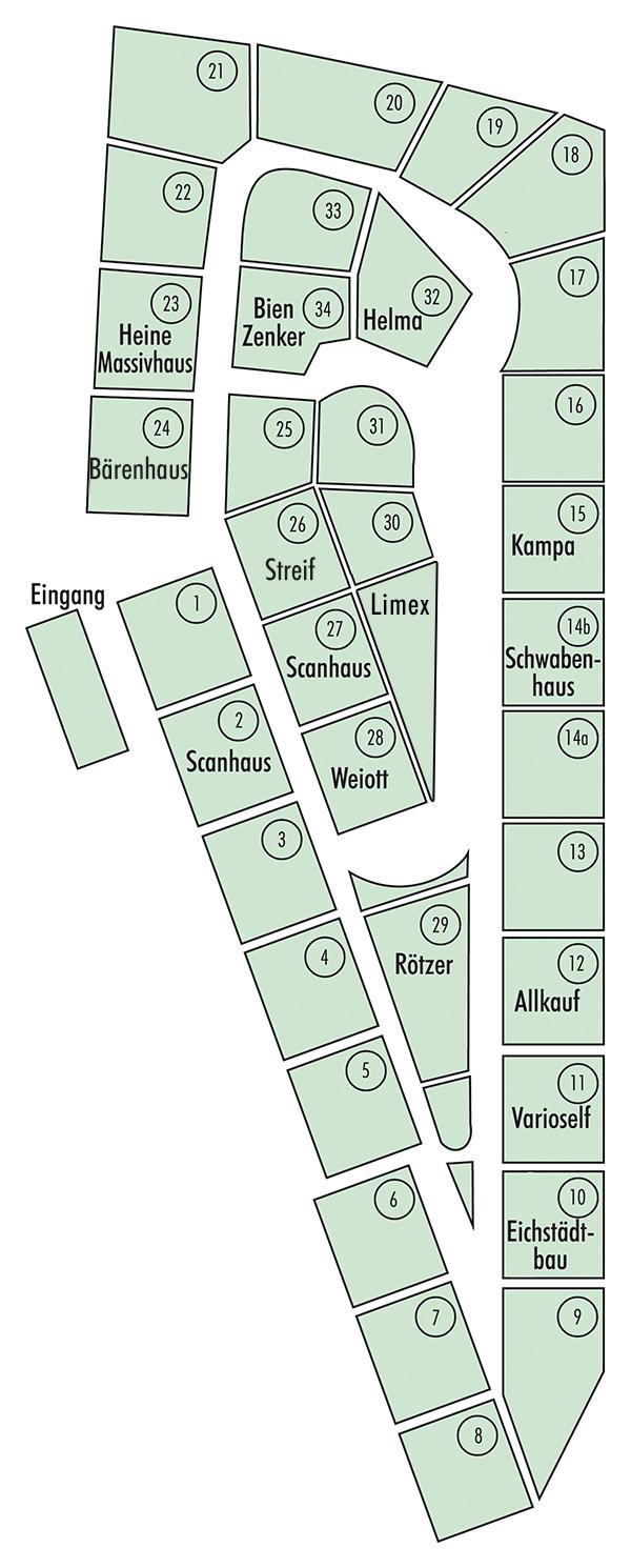 Musterhauspark Dresden Lageplan