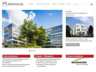 Objektbau.de - Das neue Portal für Informationen und Anbieter rund um den Objektbau