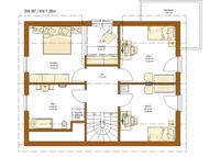RENSCH-HAUS - Haus CLOU 156 - Grundriss Dachgeschoss