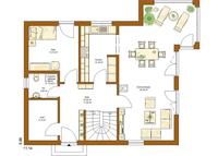 RENSCH-HAUS - Haus CLOU 156 - Grundriss Erdgeschoss