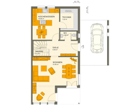 Living Haus - SOLUTION 126 L V4 - Grundriss Erdgeschoss