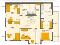 Living Haus - SOLUTION 230 V4 - Grundriss Dachgeschoss