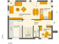 Living Haus - SUNSHINE 125 V3 - Grundriss Erdgeschoss