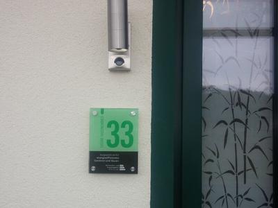 Gruene Hausnummer
