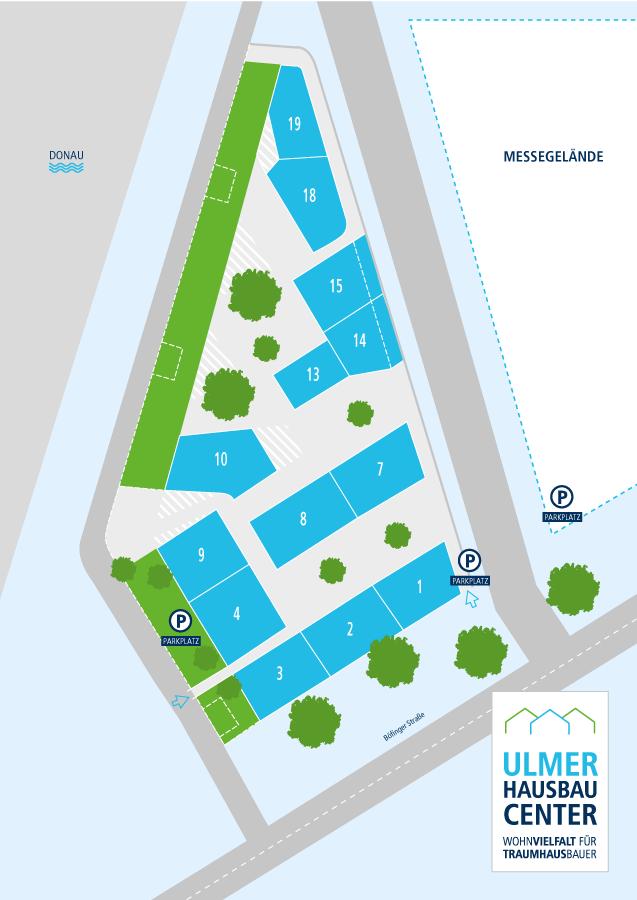 Parkübersicht Hausbau Center Ulm