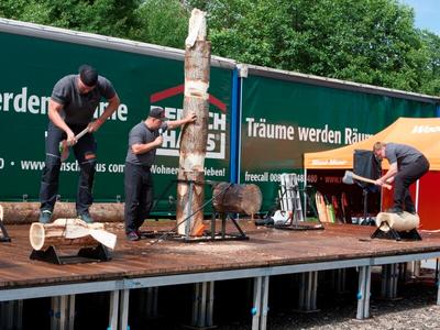 Vorführung Timber-Sports