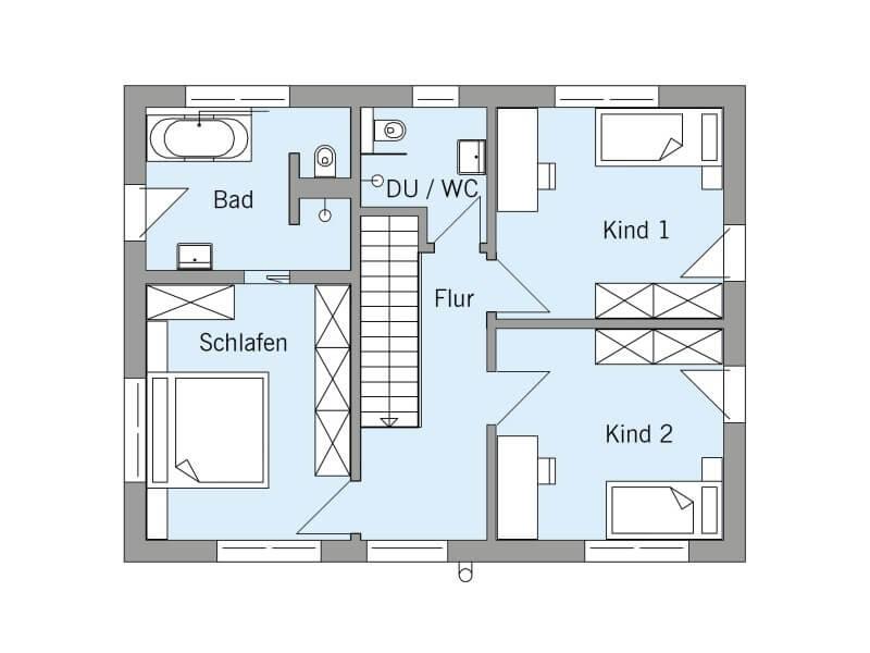 Klassisches fertighaus von baufritz haus einfamilienhaus for Fertighaus grundrisse einfamilienhaus