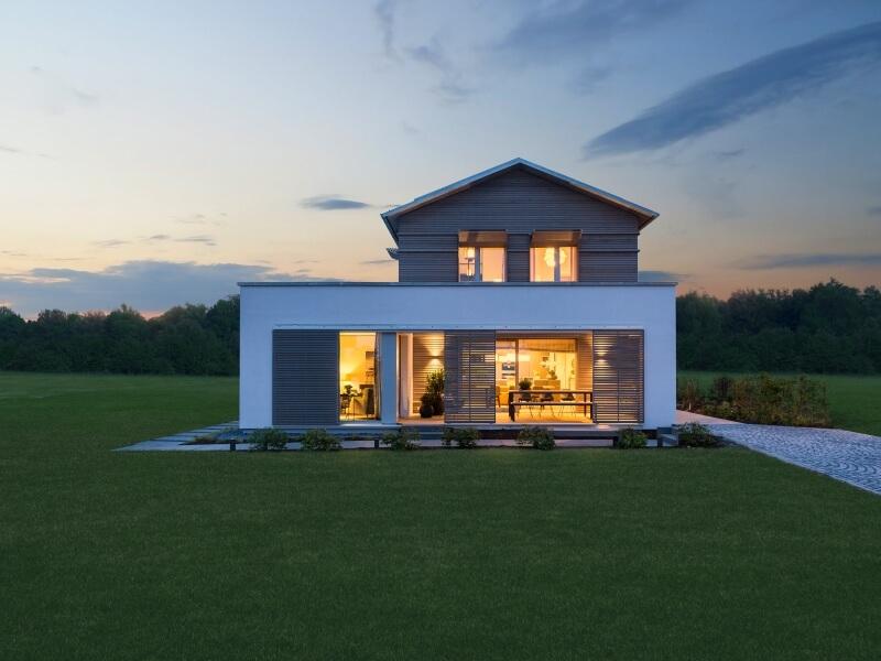 modernes baufritz musterhaus haus natur design. Black Bedroom Furniture Sets. Home Design Ideas