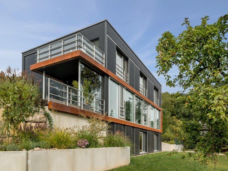 modernes holzhaus von baufritz haus pawliczec. Black Bedroom Furniture Sets. Home Design Ideas