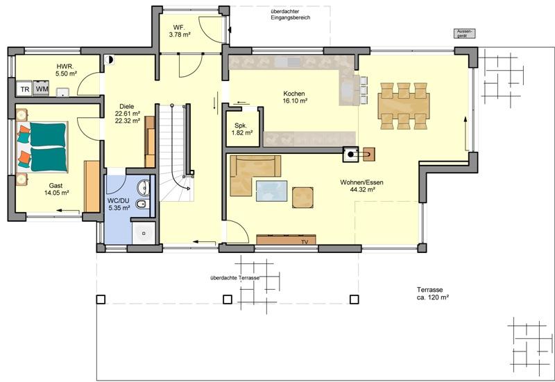 top h user von b denbender haus flaviano. Black Bedroom Furniture Sets. Home Design Ideas