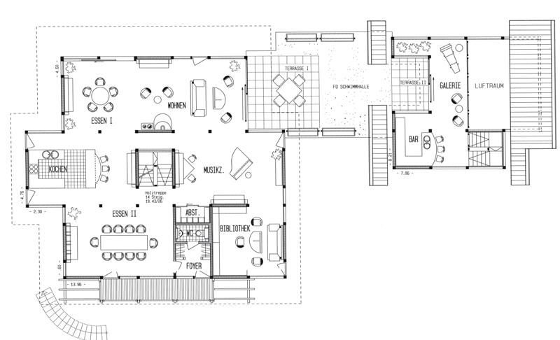 grundriss haus u form m bel ideen innenarchitektur. Black Bedroom Furniture Sets. Home Design Ideas