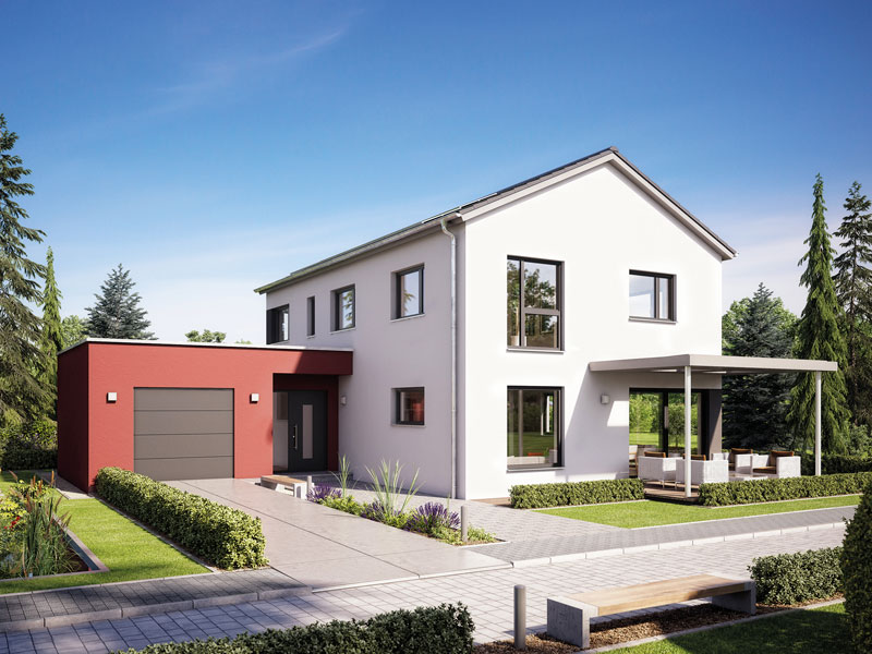 fertighaus von hanse haus variant 169. Black Bedroom Furniture Sets. Home Design Ideas