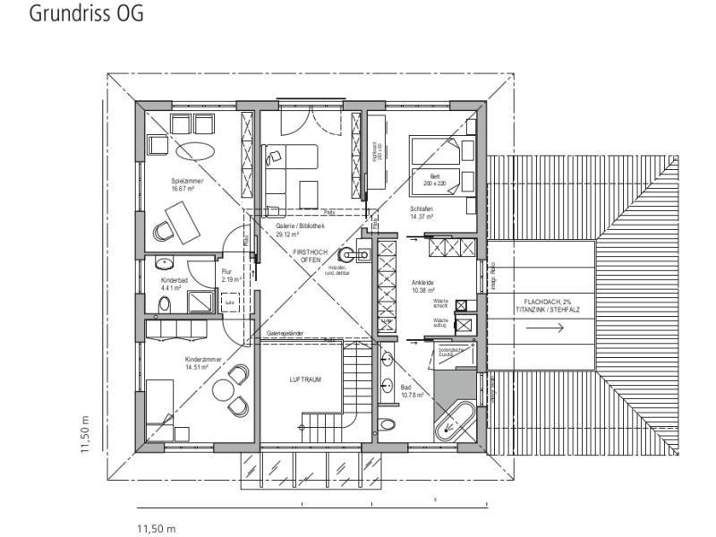 Fertighaus von LUXHAUS - Walmdach 208
