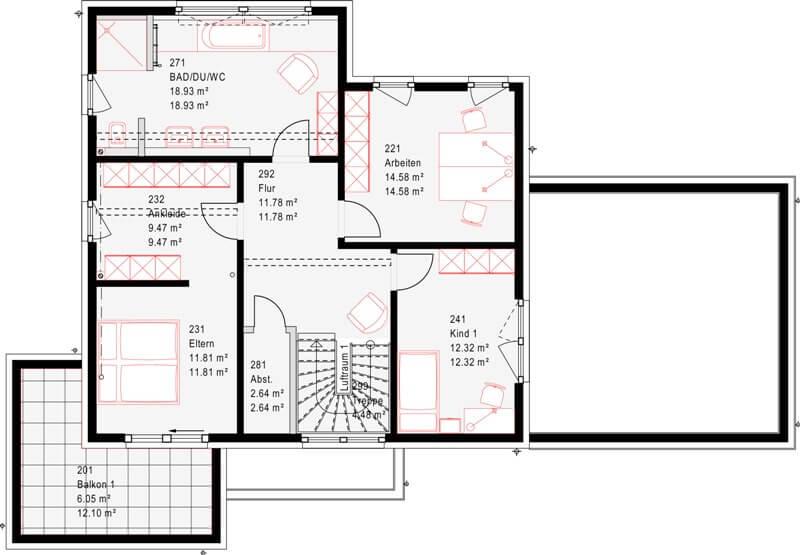 Modernes fertighaus von okal musterhaus schkeuditz for Muster grundrisse haus