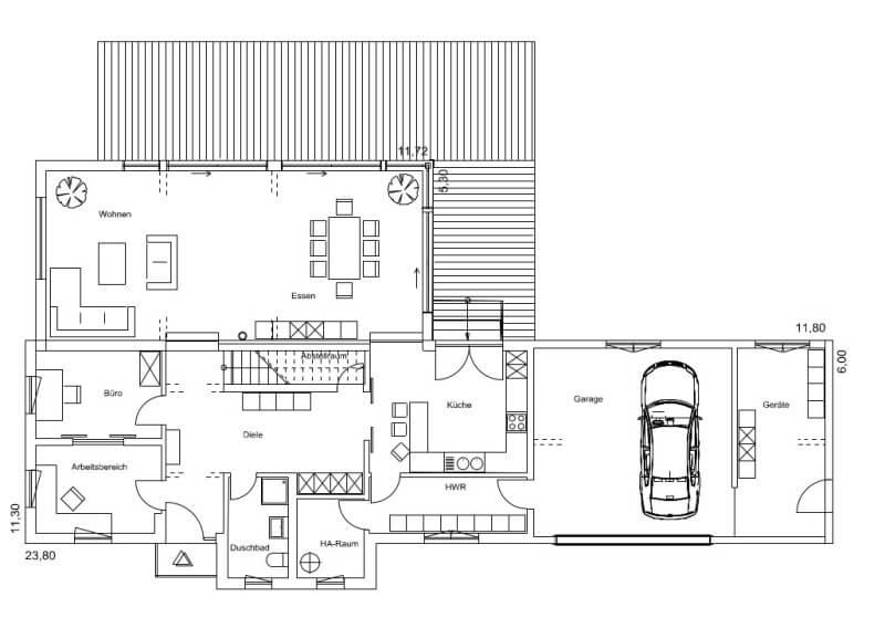 fertighaus von regnauer hausbau haus plettenberg. Black Bedroom Furniture Sets. Home Design Ideas