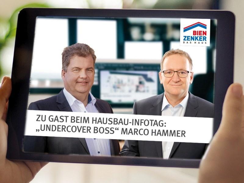 Marco Hammer berichtet beim Bien-Zenker Hausbau-Infotag exklusiv von seinen Erfahrungen als Undercover Boss