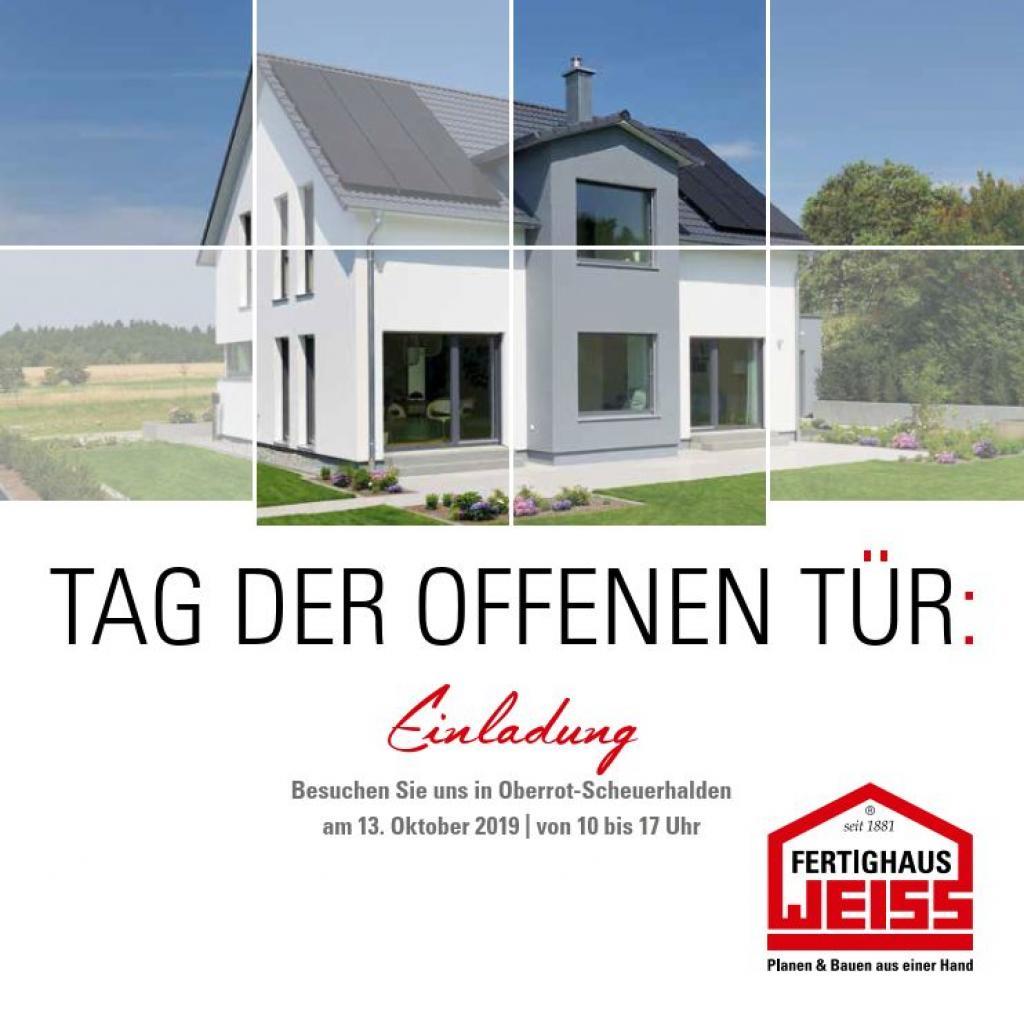 Fertighaus WEISS - TAG DER OFFENEN TUER 2019