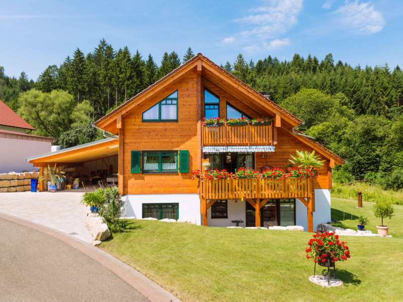 Fullwood Holzhaus Fränkische Kiefer - Aussenansicht