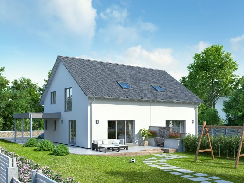 schwabenhaus optimiert hausprogramm duett fertighaus. Black Bedroom Furniture Sets. Home Design Ideas